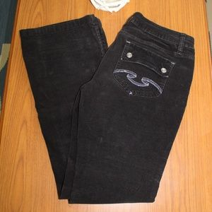NOBO No Boundries Black Brushed Cords Pants Jeans